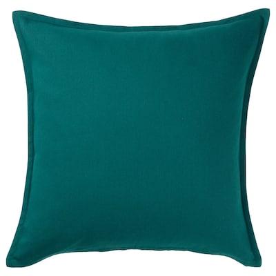 GURLI Sarung kusyen, hijau gelap, 50x50 cm