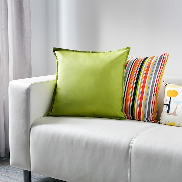 GURLI Sarung kusyen, hijau, 50x50 cm