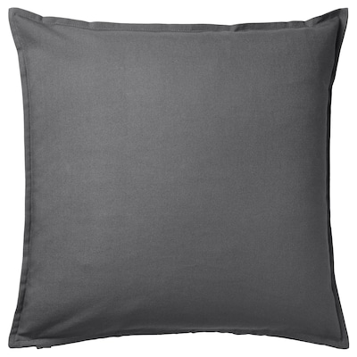 GURLI Sarung kusyen, kelabu gelap, 50x50 cm