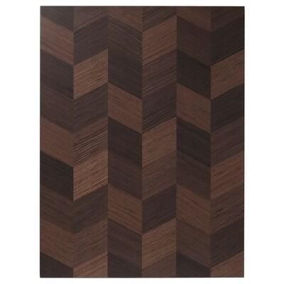 HASSLARP Pintu, coklat bercorak, 60x80 cm