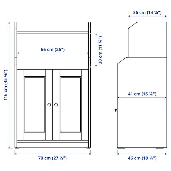 HAUGA Kabinet 2 pintu, putih, 70x116 cm