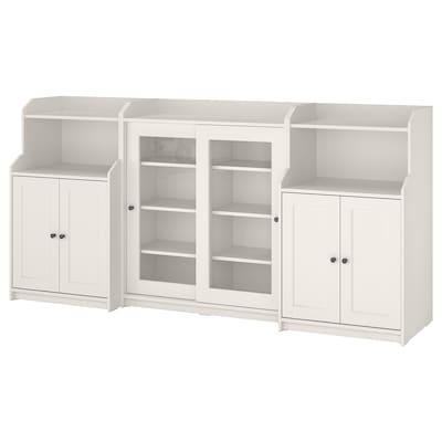 HAUGA Kombinasi storan, putih, 244x46x116 cm
