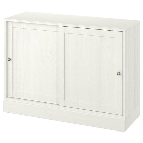 HAVSTA kabinet dengan ketapak putih 121 cm 47 cm 89 cm 45 kg
