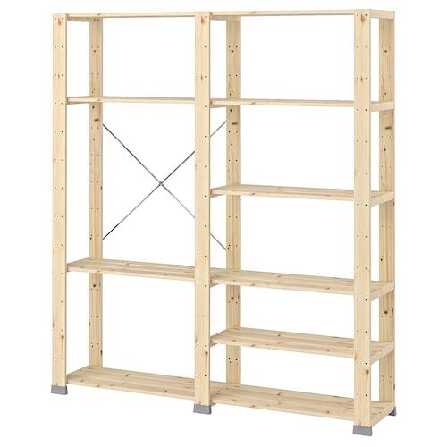 HEJNE 2 bahagian kayu lembut 154 cm 31 cm 171 cm 35 kg