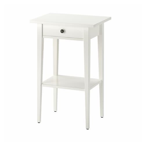 HEMNES meja sisi katil putih 46 cm 35 cm 70 cm