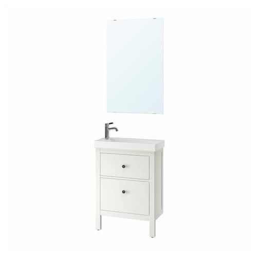HEMNES / HAGAVIKEN set 4 unit perabot bilik mandi