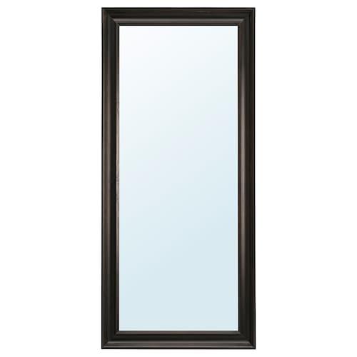 HEMNES cermin hitam coklat 74 cm 165 cm