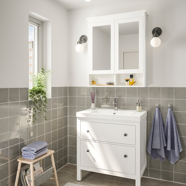HEMNES / ODENSVIK Set 4 unit perabot bilik mandi