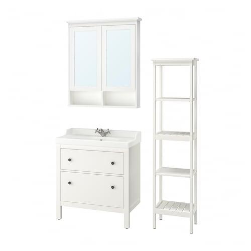 HEMNES / RÄTTVIKEN set 5 unit perabot bilik mandi