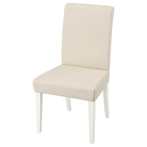 HENRIKSDAL kerusi putih/Linneryd semula jadi 110 kg 51 cm 58 cm 97 cm 51 cm 42 cm 47 cm