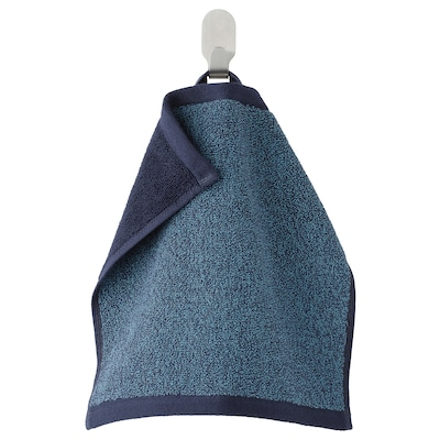 HIMLEÅN Tuala kecil, biru gelap/mélange, 30x30 cm
