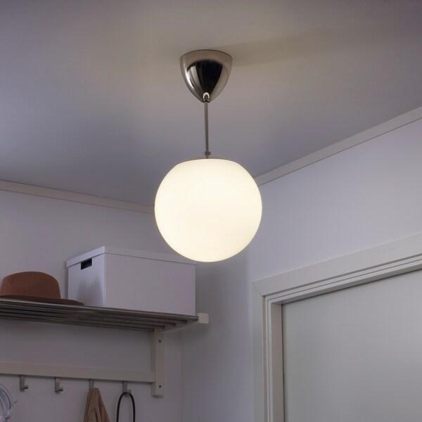 HÖLJES Pendan, lampu ke bawah, putih