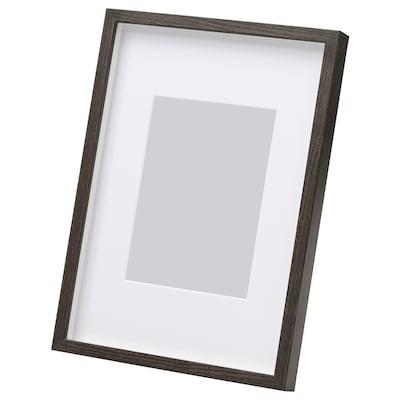 HOVSTA Bingkai, coklat gelap, 21x30 cm