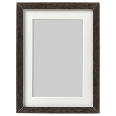 HOVSTA Bingkai, coklat gelap, 13x18 cm