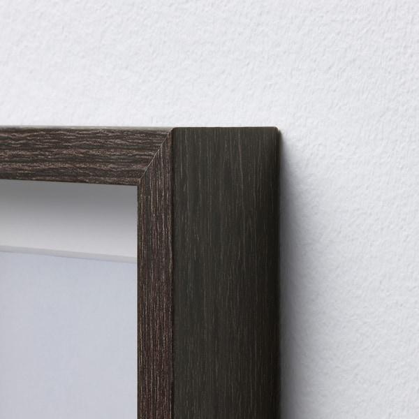 HOVSTA Bingkai, coklat gelap, 10x15 cm