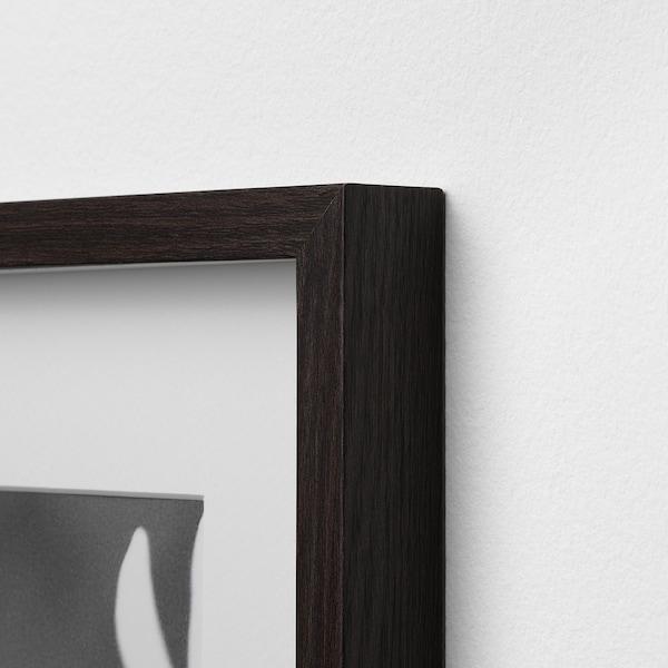 HOVSTA Bingkai, coklat gelap, 40x50 cm