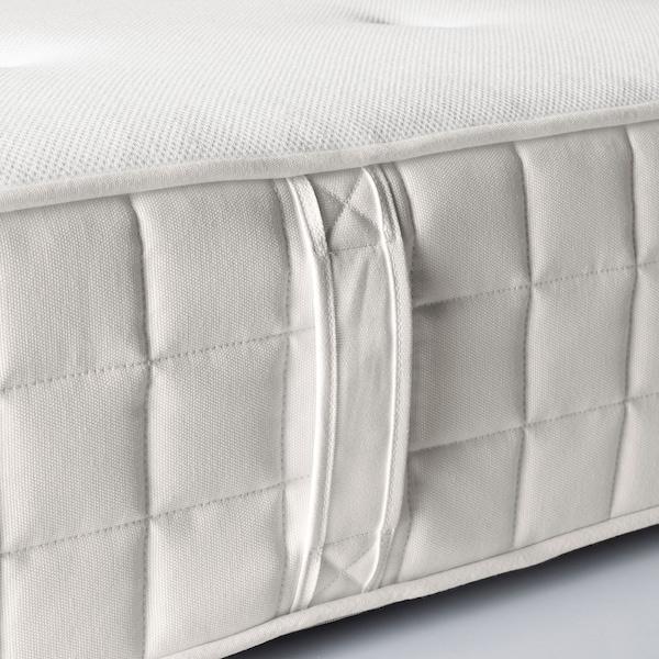 HYLLESTAD Tilam spring poket, sederhana padat/putih, 150x200 cm