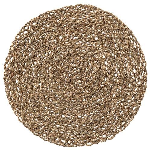 IHÅLLIG lapik pinggan semula jadi/rumput laut 37 cm