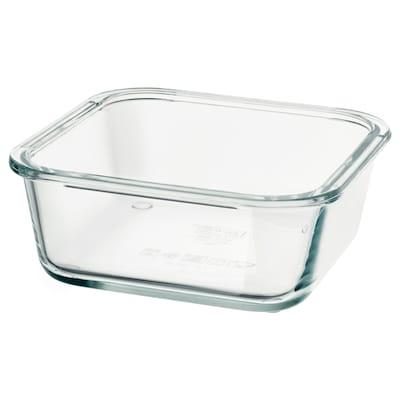 IKEA 365+ Bekas makanan, empat segi/kaca, 600 ml