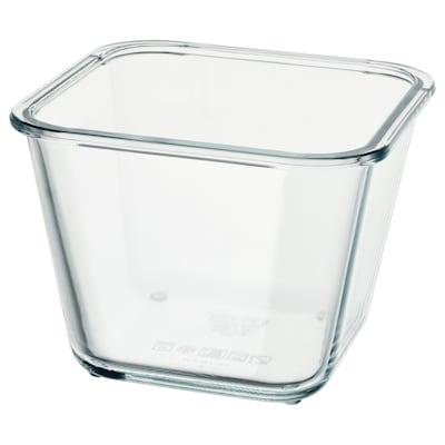 IKEA 365+ Bekas makanan, empat segi/kaca, 1.2 l