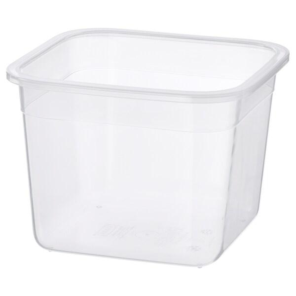 IKEA 365+ Bekas makanan, empat segi/plastik, 1.4 l