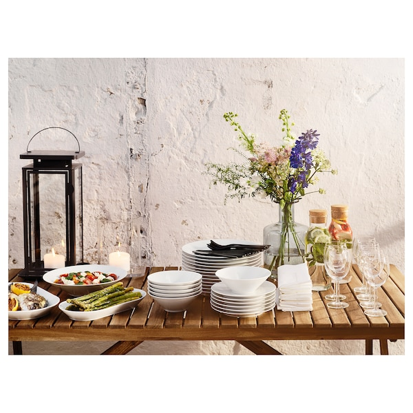 IKEA 365+ Pinggan hidangan, putih, 24x13 cm