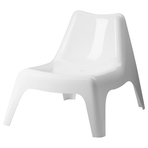 IKEA PS VÅGÖ kerusi malas, luar putih 110 kg 74 cm 92 cm 71 cm 55 cm 50 cm 36 cm