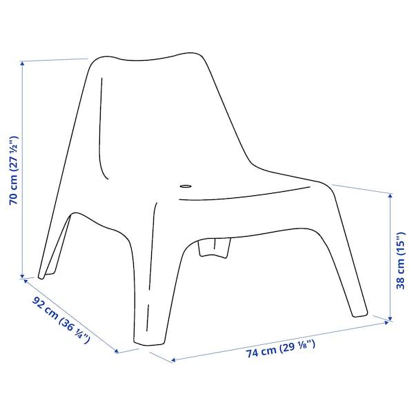 IKEA PS VÅGÖ Kerusi malas, luar, putih