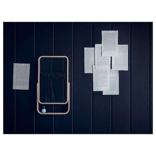 IKORNNES Cermin meja, ash, 27x40 cm