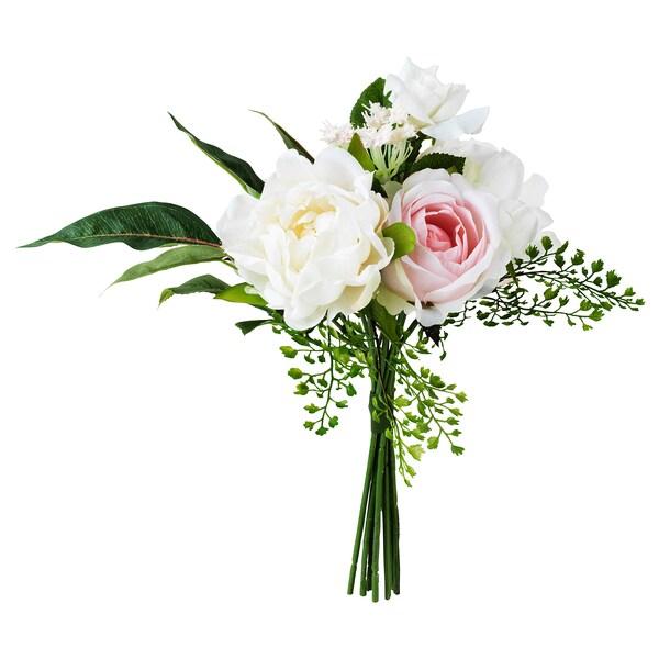 INBJUDEN Bouquet tiruan, merah jambu, 35 cm
