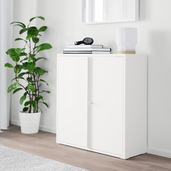 IVAR Kabinet berpintu, putih, 80x83 cm