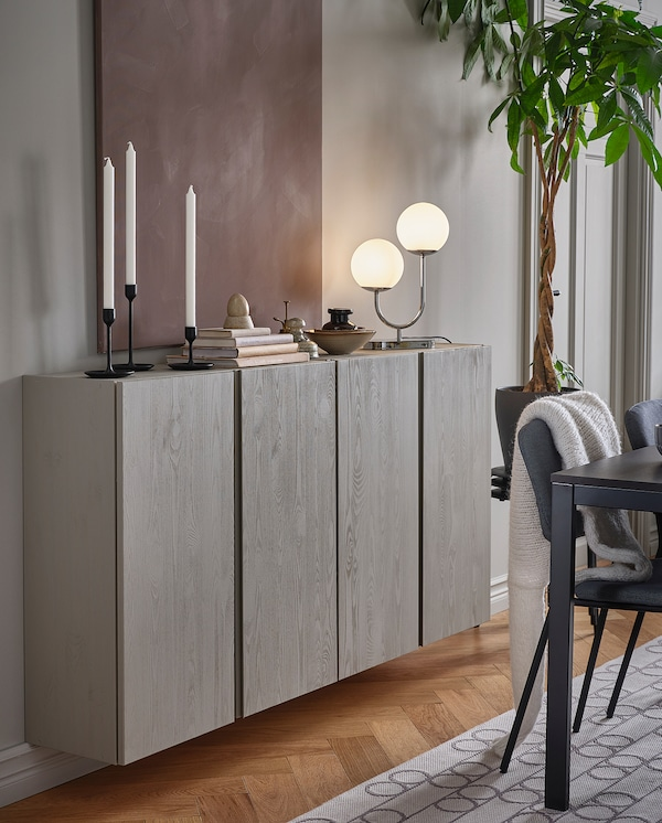 IVAR Kabinet, kayu pain, 80x30x83 cm