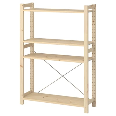 IVAR Unit rak, kayu pain, 89x30x124 cm