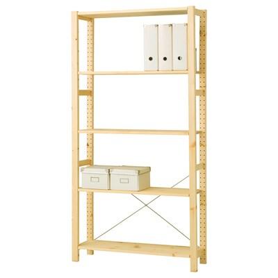 IVAR Unit rak, kayu pain, 89x30x179 cm
