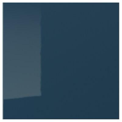 JÄRSTA Pintu, berkilat hitam biru, 40x40 cm