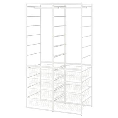 JONAXEL Kombinasi almari pakaian, putih, 99x51x173 cm