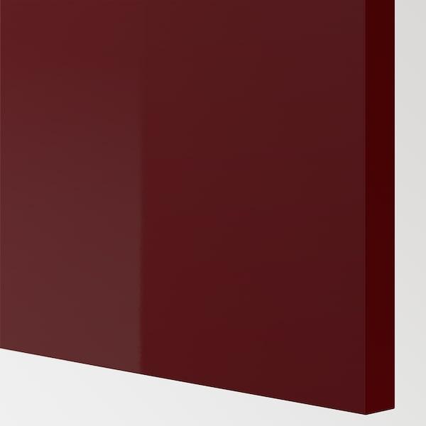 KALLARP Sarung panel, berkilat Merah coklat gelap, 62x80 cm