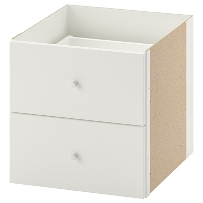 KALLAX Selitan 2 laci, putih, 33x33 cm