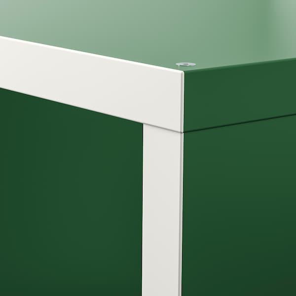 KALLAX Unit rak, putih/hijau, 77x147 cm