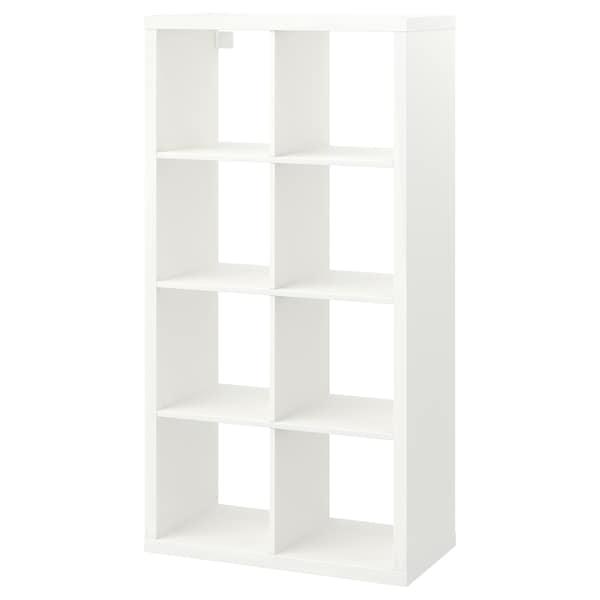 KALLAX Unit rak, putih, 77x147 cm