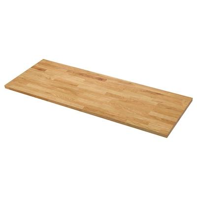 KARLBY Permukaan kerja, kayu oak/venir, 186x3.8 cm