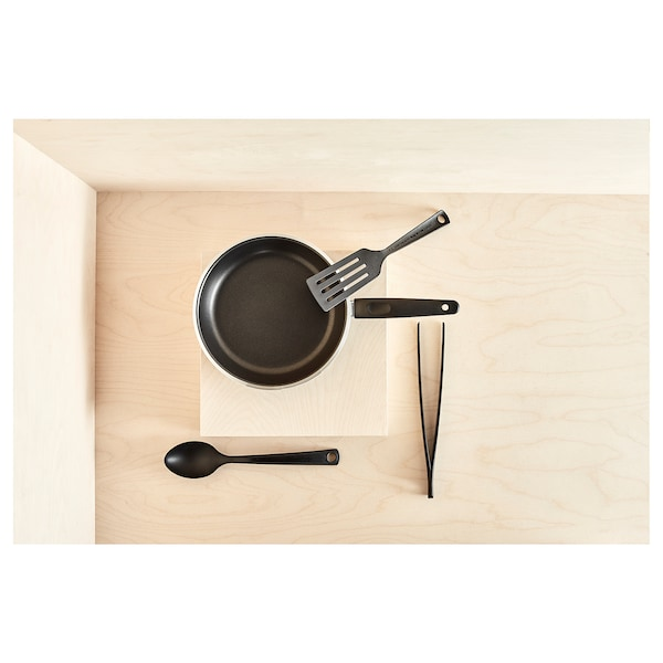KAVALKAD Kuali utk menggoreng, hitam, 24 cm