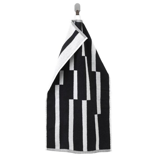 KINNEN Tuala tangan, hitam/putih, 40x70 cm