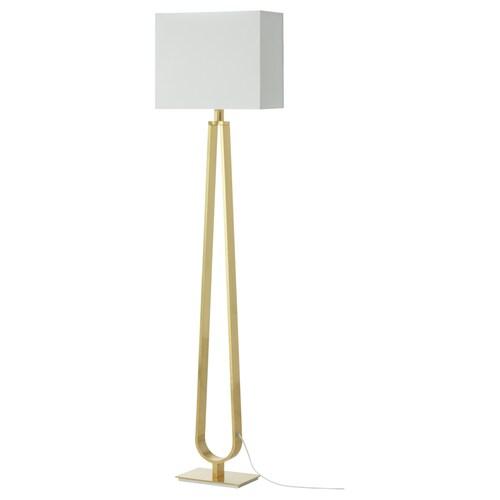 KLABB lampu lantai putih pudar/warna loyang 36 cm 150 cm 2.3 m