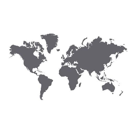 KLÄTTA pelekat hiasan dunia papan hitam 60 cm 103 cm