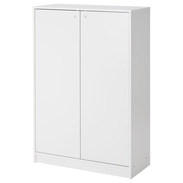 KLEPPSTAD Kabinet/tempat menyimpan kasut, putih, 80x117 cm