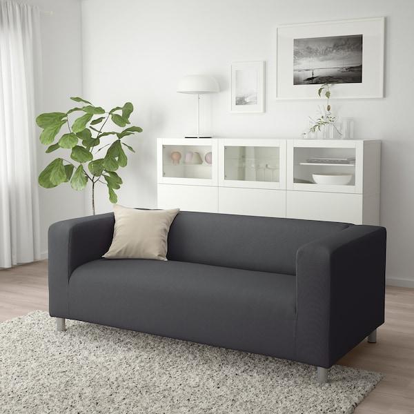 KLIPPAN sofa 2 tempat duduk Vissle kelabu 180 cm 88 cm 66 cm 11 cm 54 cm 43 cm