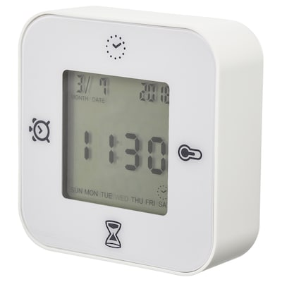 KLOCKIS Jam/termometer/penggera/pemasa, putih