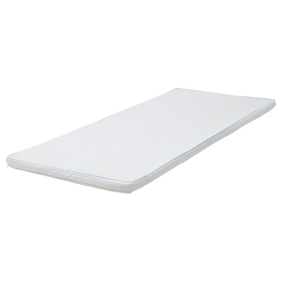 KNAPSTAD Pelapik tilam, putih, 90x200 cm