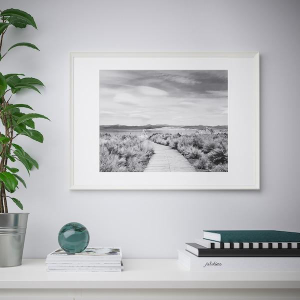 KNOPPÄNG Bingkai, putih, 50x70 cm